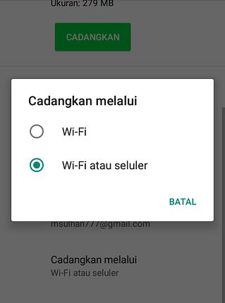 Cara Mencadangkan WA ke Google Drive 2