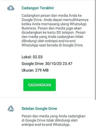 Cara Mencadangkan WA ke Google Drive 1
